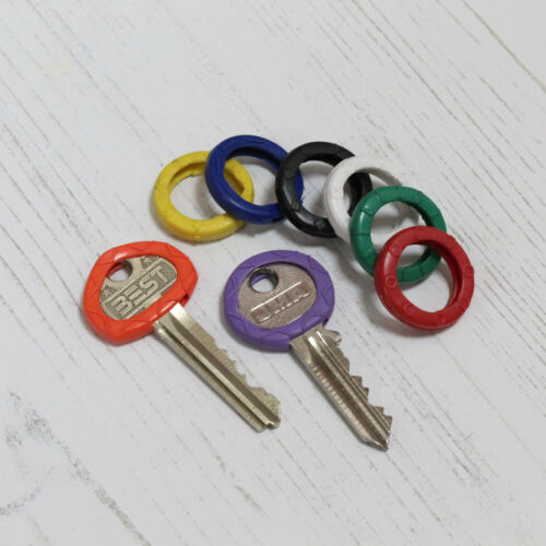 Soft Rubber Key Identifiers Top Cover Caps Pack of 8 Coloured ID Marker Grip