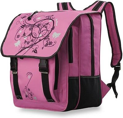 Mädchen- Rucksack Markentasche Bag Street geräumige Schultasche rosa-schwarz