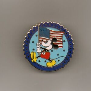 DISNEY-PIN-Mickey-Mouse-With-American-Flag-Jerry-Leigh