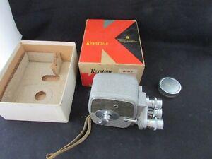 Vintage-Keystone-K-27-Triple-Turret-8mm-Roll-Film-Camera-With-Original-Box