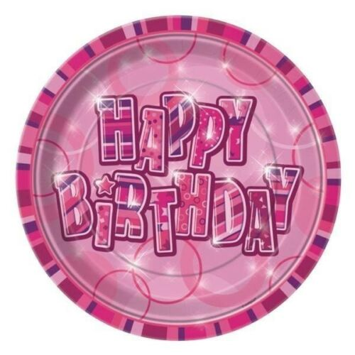 100th Birthday Pink Glitz Party Range Party//Plates//Napkins//Banners//Cups 100