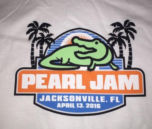 PEARL JAM - Jacksonville T-SHIRT Size XL - April 13 2016 fl WOW Pendelton