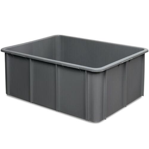 Inhalt 120 Liter LxBxH 800 x 600 x 320 mm Schwerlastbehälter grau