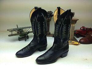 sanders panhandle slim black ostrich leg leather western