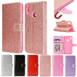 newest 9a23d d62ee Details about For Huawei Nova 3i/P Smart 2019 Bling Glitter Leather Wallet  Magnetic Case Cover