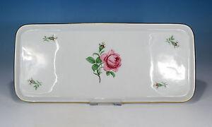 Fuerstenberg-034-Rote-Rose-034-Tablett-Platte-32-x-14-cm