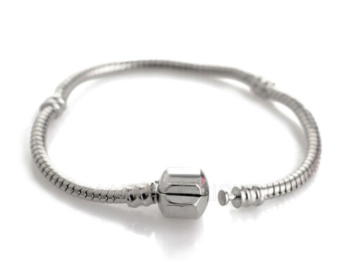 Wholesale Silver Snake Chain Bracelet Fit European Charm Beads