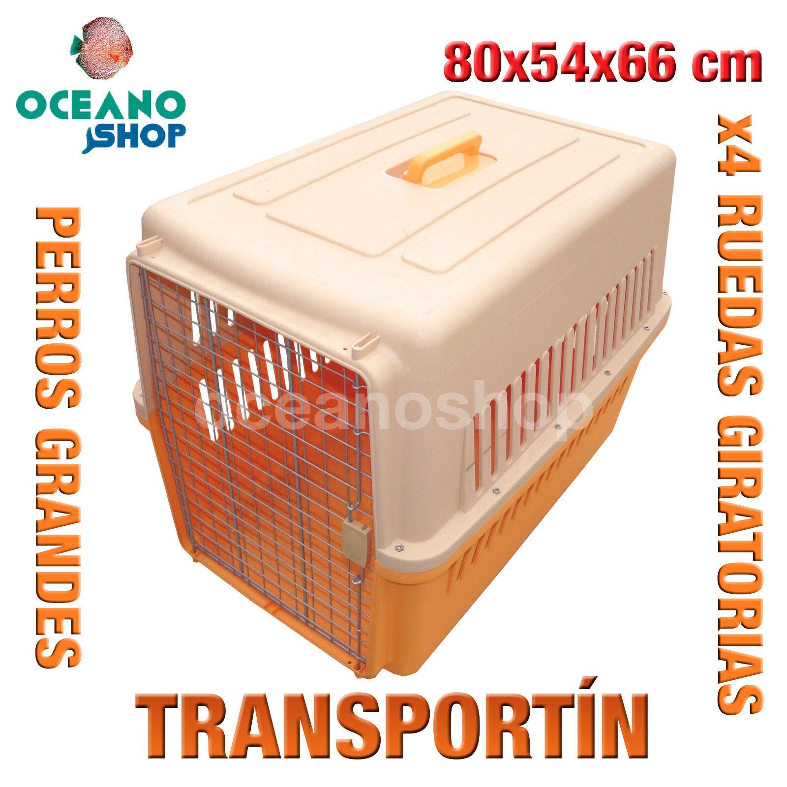 TRANSPORTIN PERROS GRAN TAMAÑO RUEDAS Y CIERRE SEGURIDAD 80x54x66 cm D528 0153