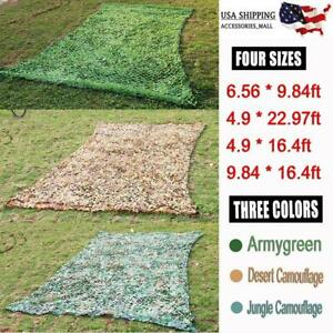 Woodland-Camouflage-Camo-Military-Net-Hide-Netting-Cover-Camping-Hunting-Shelter