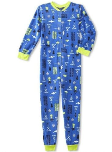Video Game Pajamas Boy/'s 10//12 NeW Zip-Up Winter Pjs Gaming Union Suit NWT Gamer