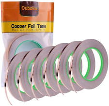 6 Pack Copper Foil Tape Double Sided Conductive Copper Tape Soldering Copper New