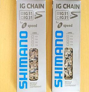 Shimano-IG51lSteel-Bicycle-Chain-7-8-Speed-Mountain-Bike-Chain116-link-UK-seller
