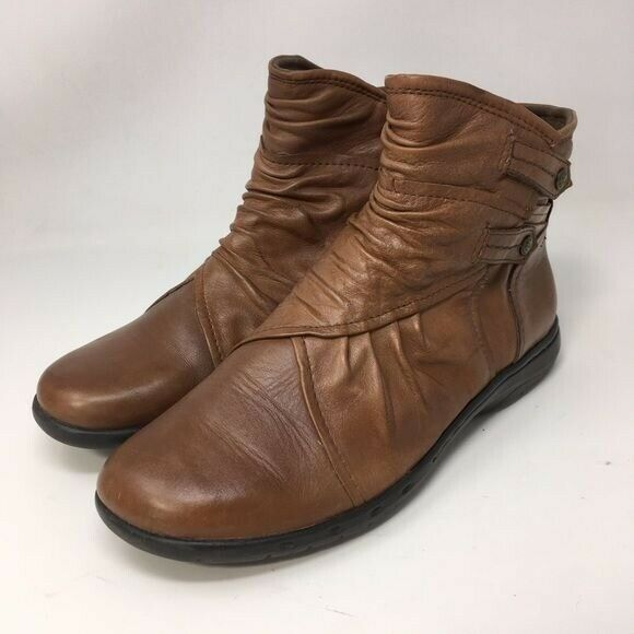 Cobb Hill Booties Ankle Pandora Brown Leather 8.5