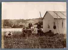 Pique-nique Vintage citrate print.  Tirage citrate  12X17  Circa 1895