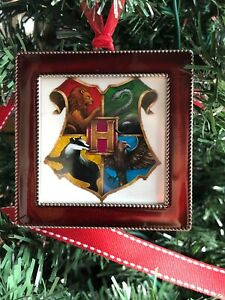 "Harry Potter Gryffindor Crest Square Red 3/"" Metal Ornament Pottermore design"
