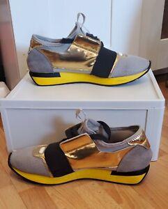 Sliding Tray Shoe Box   Gold