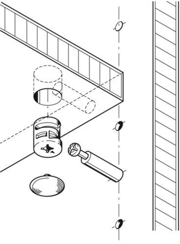HAFELE MINIFIX S100 Ø15mm CAM LOCK BOLTS /& FIXING DOWELS FURNITURE FIT FLAT PACK