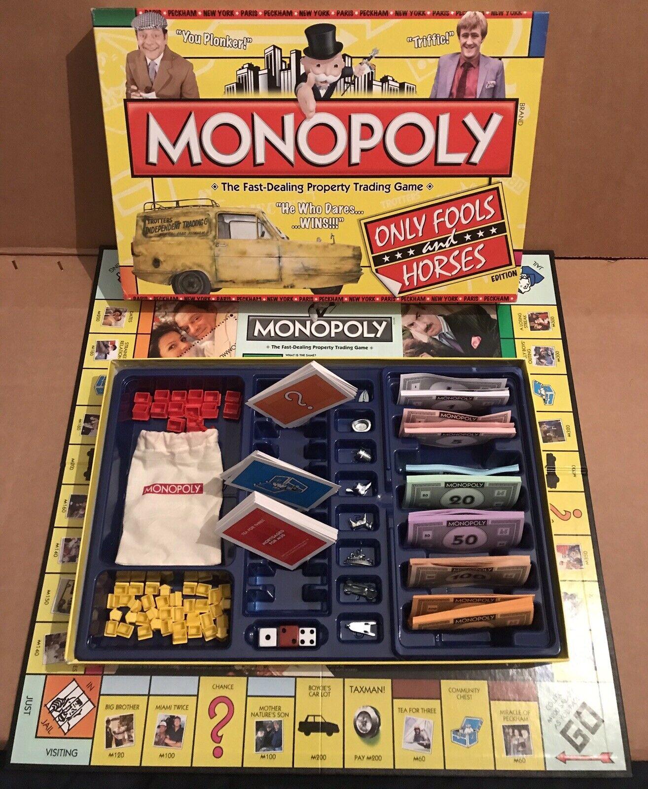 Monopol- Bara Fools and Horses 1996 board spel by Hasbro.Fullständigt och sällsynt.1996.