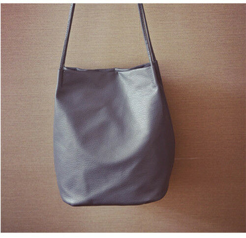 Classic Ladies Women Leather Tote Shoulder Bag Handbag Satchel School Shopper