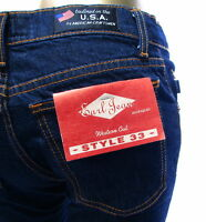 Earl Jeans Western Cut Style 33 Ladies Dark Wash Denim Jeans Tailored In Usa 26