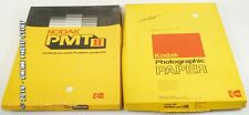 KODAK 12 X 18 PHOTOGRAPHIC PAPER LOT REVERSAL AND RECEIVER PAPER 2 OPENED BOXES