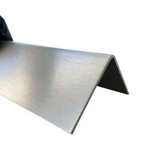 3-fach gekantet K240,0,8mm stark 3fach Winkelblech 2 Meter Edelstahl Winkel Winkelprofil Edelstahl Kantenschutzprofil Kantenschutz Wand