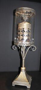 Xxl Metall Laterne Orientalisch Mit Karussell Rotation Glas 69 Cm