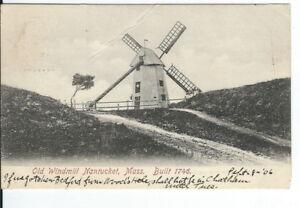 CC-322-MA-Nantucket-Old-Windmill-Undivided-Back-Postcard-Metropolitan-News-Co