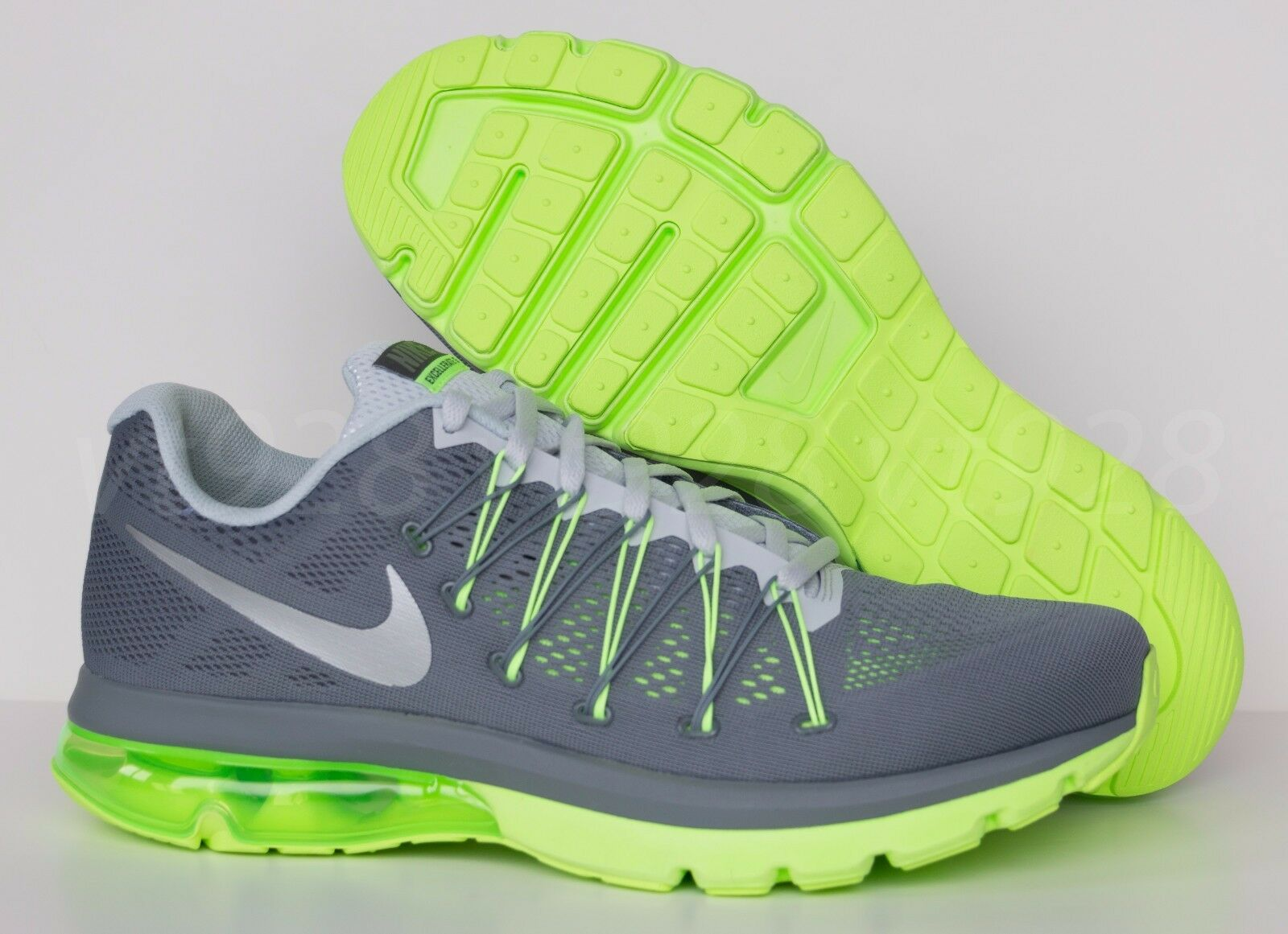 NEW NIKE AIR MAX EXCELLERATE 5 GRAY GREEN MEN'S RUNNING SHOES ALL SIZES