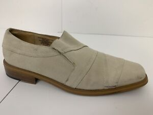 Giorgio-Brutini-Mens-Shoes-11M-Slip-On-Loafers-Qleather-Uppers-and-Lining-Beige