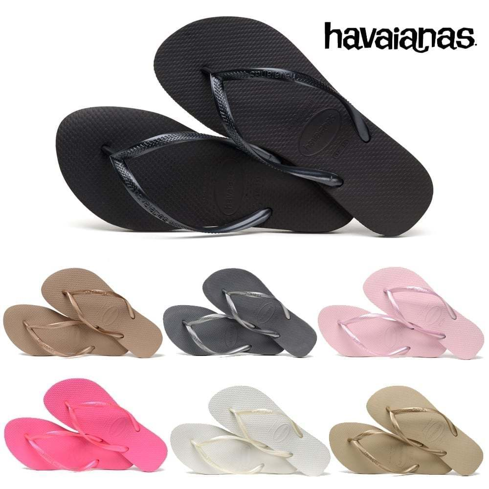 Ladies Flip Girls Havaianas Slim Flat Flip Ladies Flop Sandal Assorted Colours Size New b1b61c