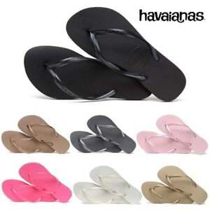 a8ae37053 Ladies Girls Havaianas Slim Flat Flip Flop Sandal Assorted Colours ...