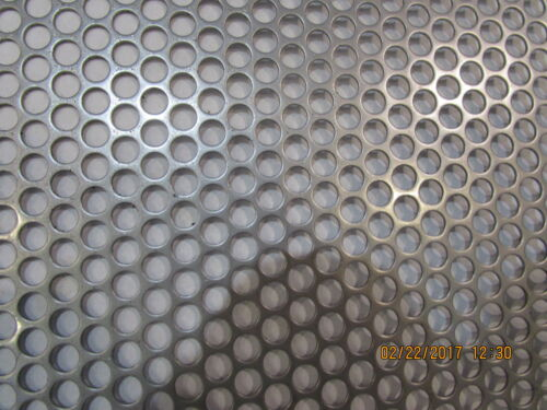 """1//4/"""" HOLES 20 GAUGE 304 STAINLESS STEEL PERFORATED SHEET 12/"""" X 24/"""""""