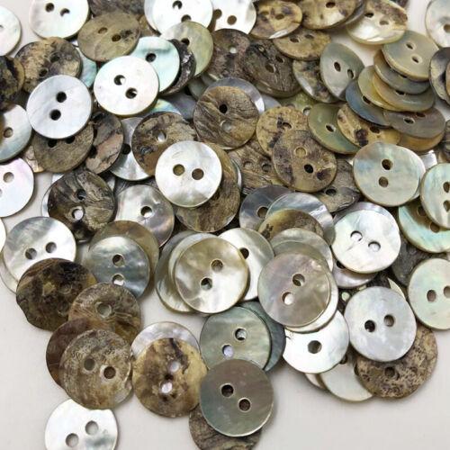 50 un Botones De Coser Shell Natural Color Japón Madre de Perla fregona Cuadrado PT294