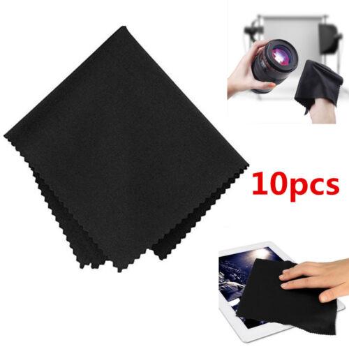 10Pcs//Set Black Premium Microfiber Cleaning Cloths for Camera Lens LCD Screen