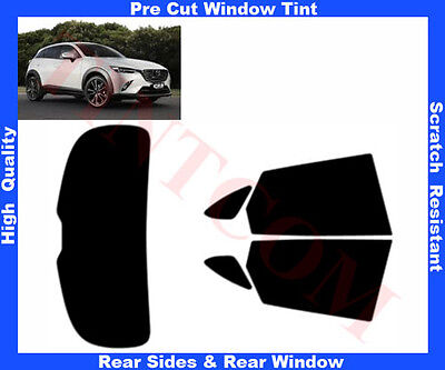 Pre Cut Window Tint Mazda CX3 5D 2015-... Rear Window & Rear Sides Any Shade