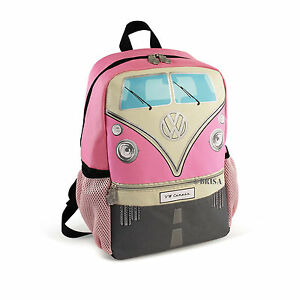 a088806202 Backpack Small T1 Camper Van Bus Pink Volkswagen VW Collection by ...