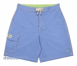 40677a2957 Men's Polo Ralph Lauren CORE KAILUA Bermuda Blue Swim Trunks Board ...
