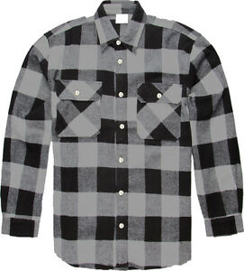 Image is loading Grey-Extra-Heavyweight-Brawny-Buffalo-Plaid-Flannel-Shirt 6d2888fe240