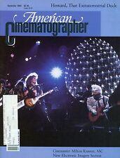 American Cinematographer Magazine September 1986  Cinemaster Milton Krasner