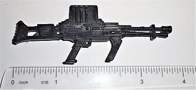 G I JOE Accessory   2002 Desert CLAWS       SOUND ATTACK Black Heavy Machine Gun