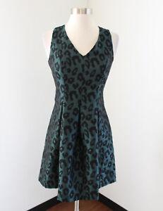 6af41081b7 NWT Ann Taylor Loft Green Black Leopard Print Sleeveless Pleated ...