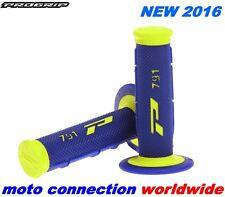 NEW PROGRIP 791 GRIPS BLUE FLO HIVIZ SOFT TOUCH SUZUKI RMZ250 RMZ450 RM125 RM250
