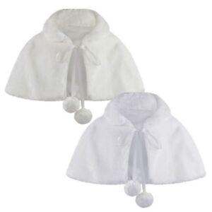 2019 Nouveau Style Fausse Fourrure Filles Cape Demoiselle D'honneur Pèlerine Pompom Cravate Étole 6 à Distribuer Partout Dans Le Monde