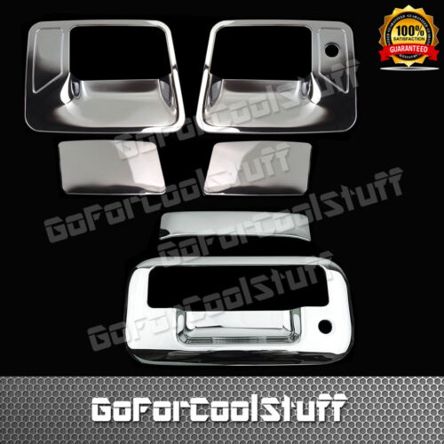 FOR FORD 08-16 F-250//350 SUPER DUTY Chrome 2 Door Handle w//o PSKH+TG Cover w//KH