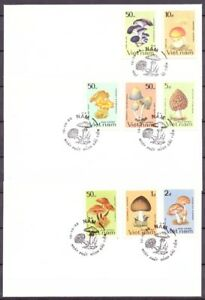 Vietnam-MiNr-1371-78-Ersttagsbriefe-FDC-Pilze-Pi5071