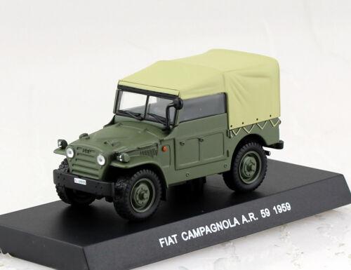 Fiat Campagnola verde ar59 carabineros policía 1959 1:43 maqueta de coche