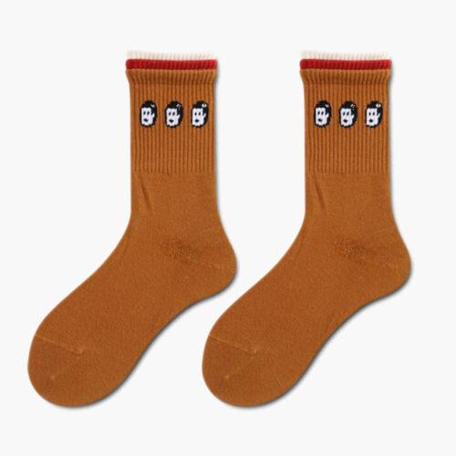 Harajuku Three-Colors Socks Women Cotton Socks Calf Socks Sport Skating Socks