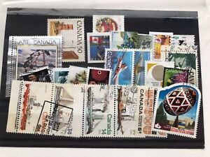 Canada-23-used-stamps-VF-what-you-see-is-what-you-get-bargain
