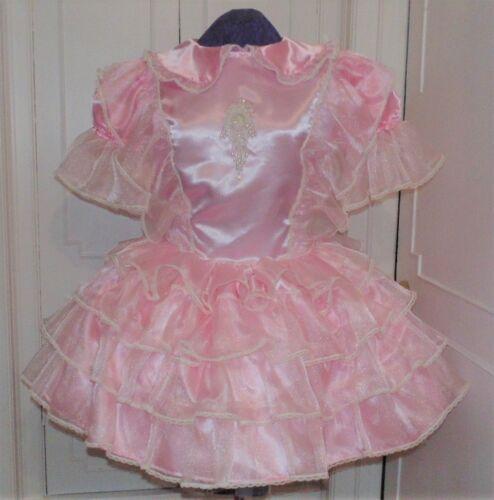 Precious Pink Sissy Lolita Adult Baby Dress Aunt D